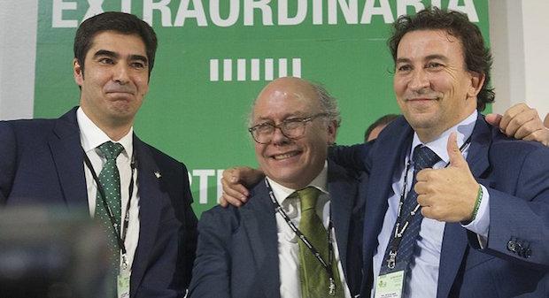 José Miguel López Catalán, Ángel Haro y Ollero Foto: Real Betis