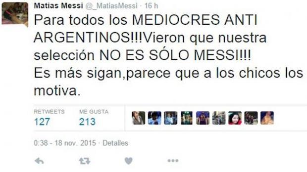Twitter hermano Messi