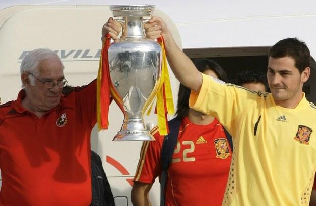 Luis SAragonés e Iker Casillas Eurocopa Foto; jornada.unam