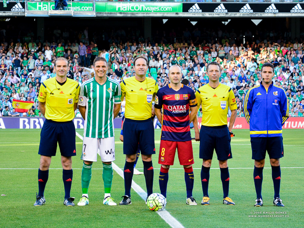 Foto capitanes Betis-Barcelona