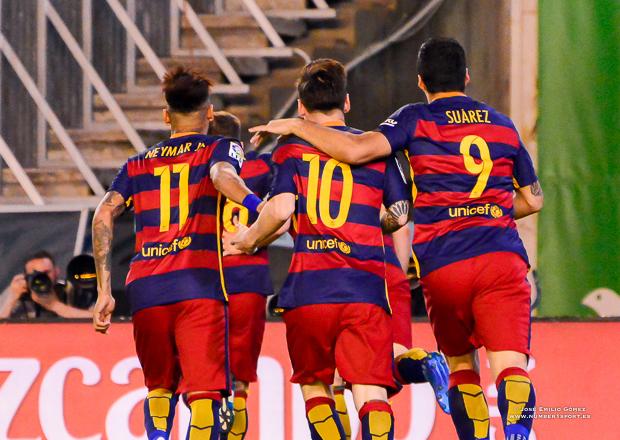 Neymar Messi Suarez Betis-Barcelona