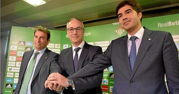 Haro, Torrecillas y Catalán Real Betis Foto ED
