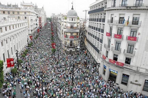 Manifestación Real Betis Foto El Mundo